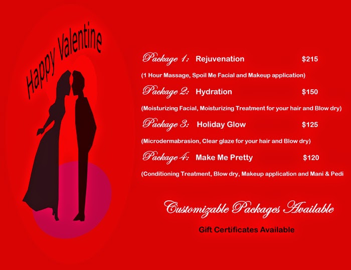 valentines day specials at spoil me salon spa - Valentine Day Specials