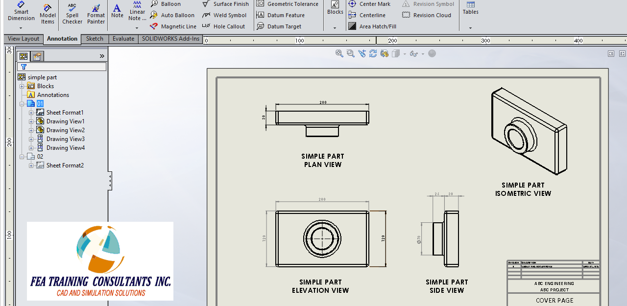 solidworks drawing view