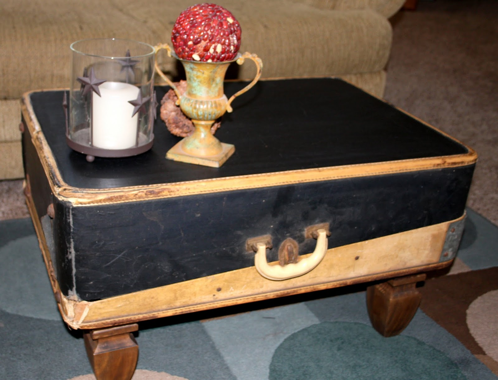 Through My Creative Mind Suitcase Coffee Table