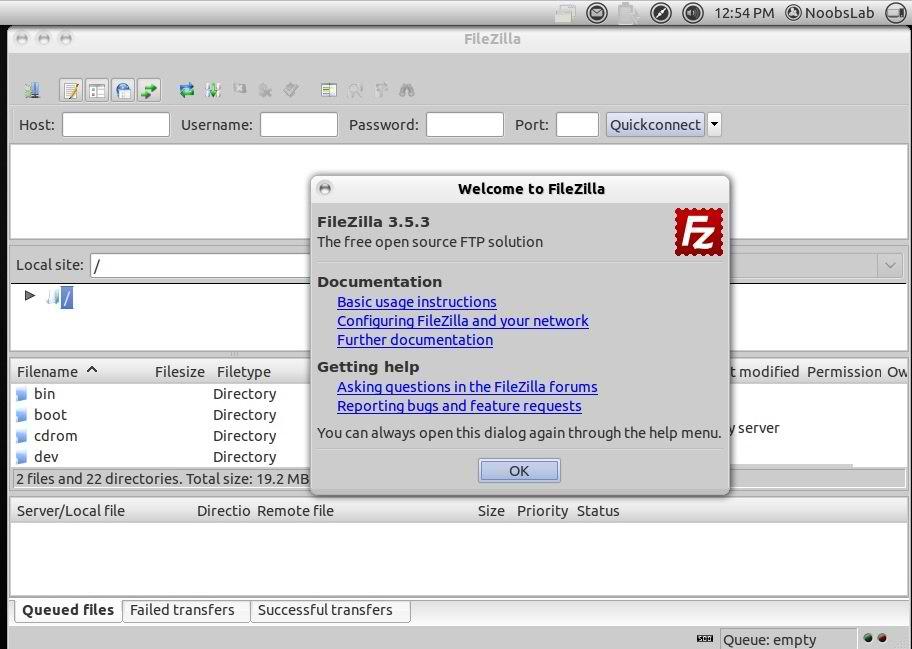 ubuntu filezilla