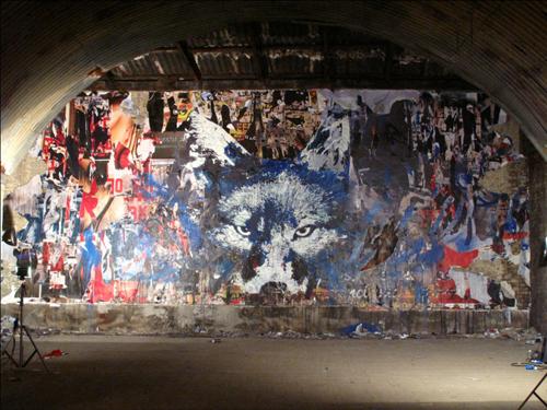 Mural de el lobo de Eristoff Black