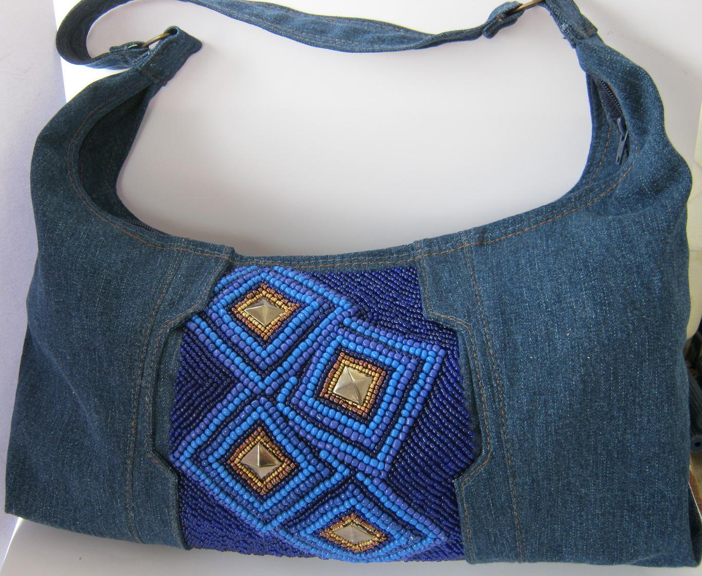 Авоська из джинсов своими руками