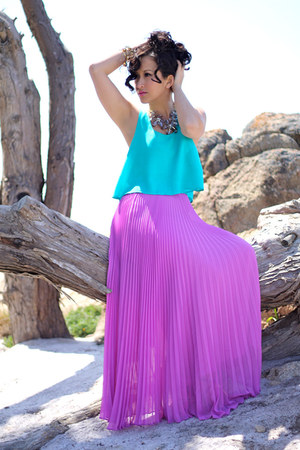 Pontiac with Fashion: IN LOVE: CROP TOP AND MAXI SKIRT