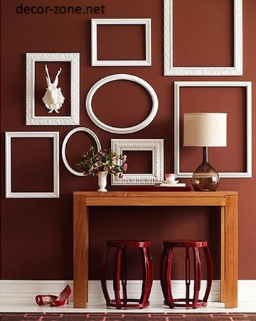 15 home wall decor ideas with decorative frames for Unique wall frames
