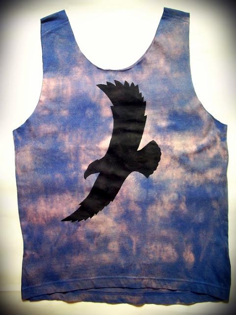 diy ombre orla cien native koszulka handmade