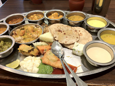 Thali at Rajdhani Restaurant Phoenix Mall Pune