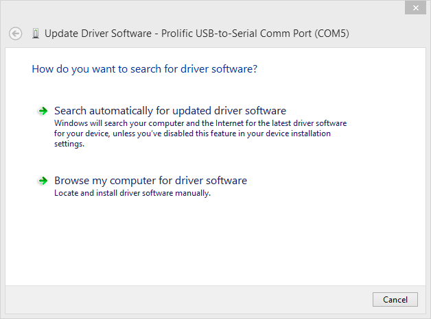 Prolific Usb-To-Serial Comm Port Driver Windows 8