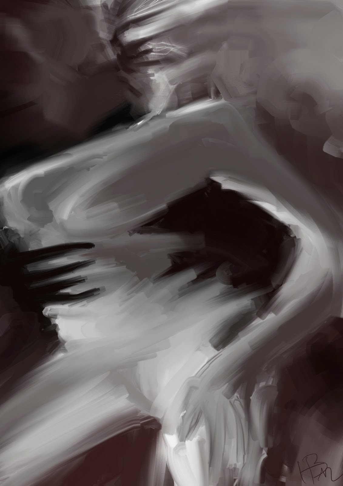 Croquis  / speed painting Whitewoman