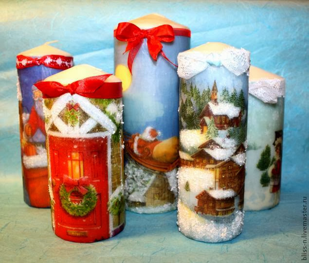 Decorative Candles for Christmas DIY Craft Projects