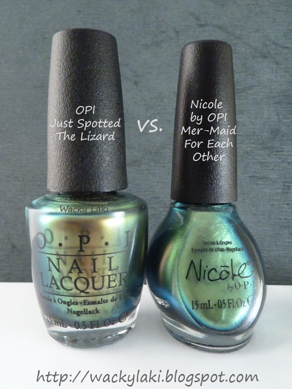 Wacky Laki: Nicole by OPI Mer-Maid For Each Other vs OPI Just ...