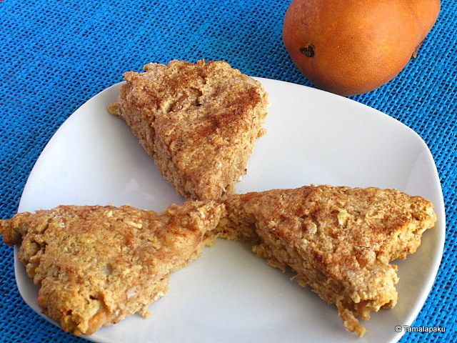 Eggless Oat And Pear Scones