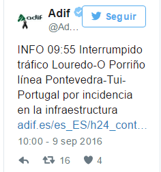 "Para Adif un accidente con muertos y heridos es ""una incidencia en la infraestructura"""