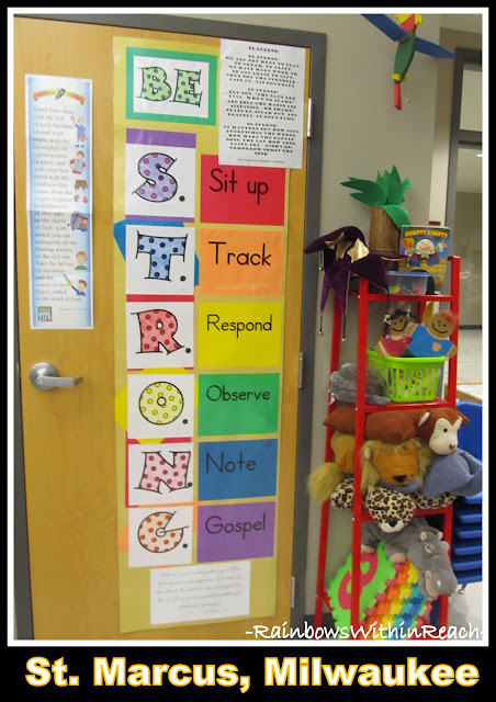 photo of: BE STRONG: Acronym for Character Building Door Decoration/Bulletin Board Idea via RainbowsWithinReach
