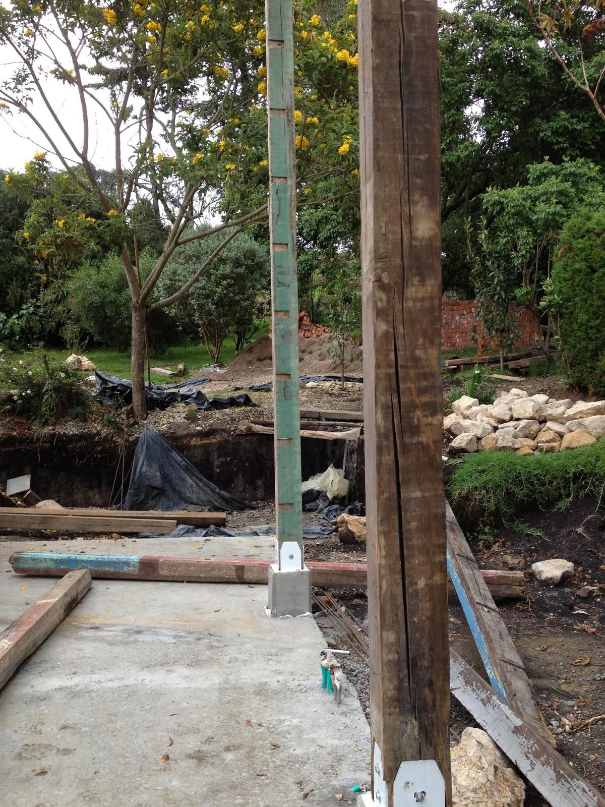 Pedestales para Estructura de Madera | bitácora casa-lavanda 2013