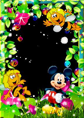 Marcos para fotos de Micky & Minnie