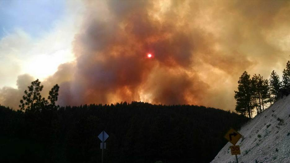 The Cornet Fire near Hereford, Oregon