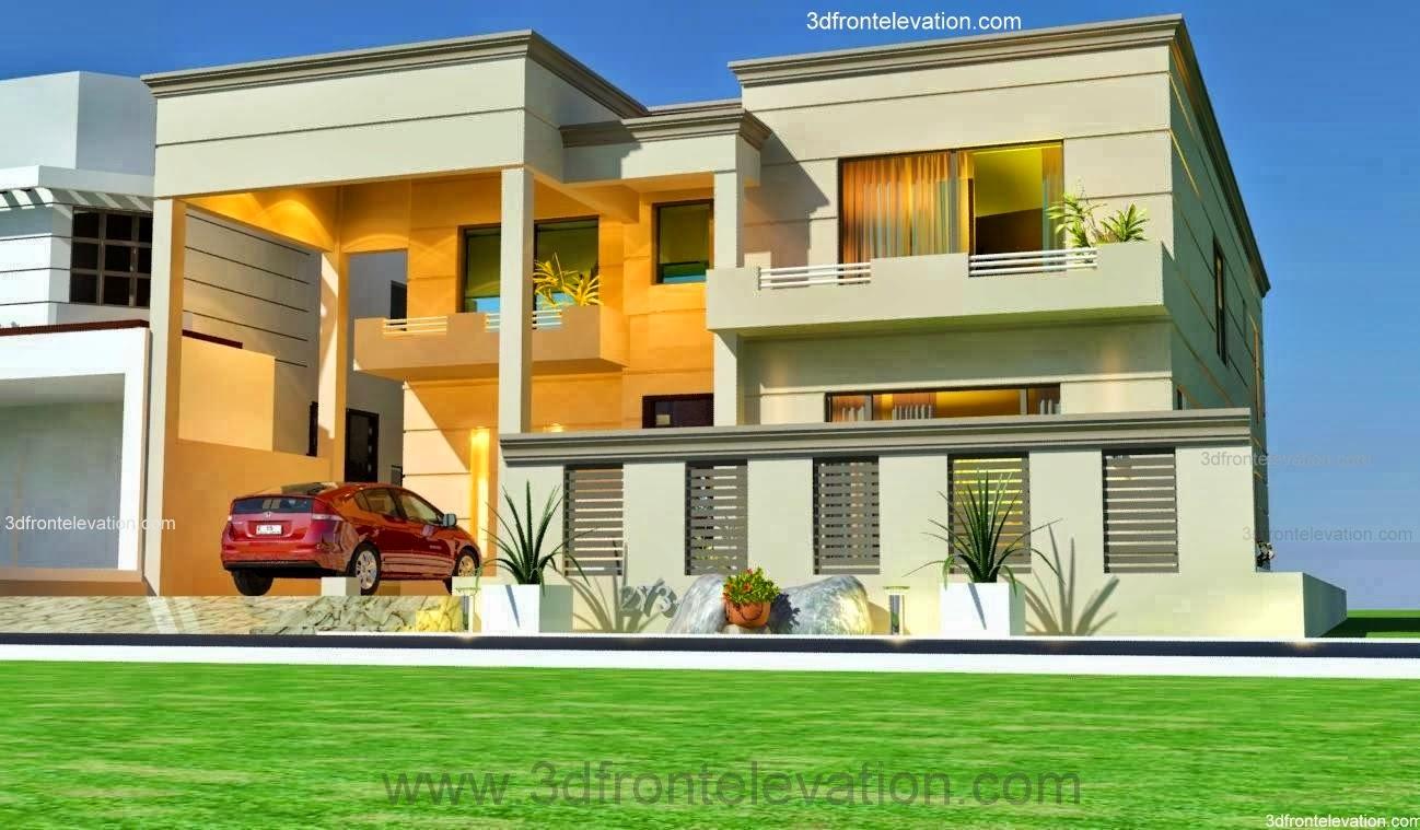 Kanal House Plan + 3D Front Elevation - 273-1 , Lake City M-2 ...