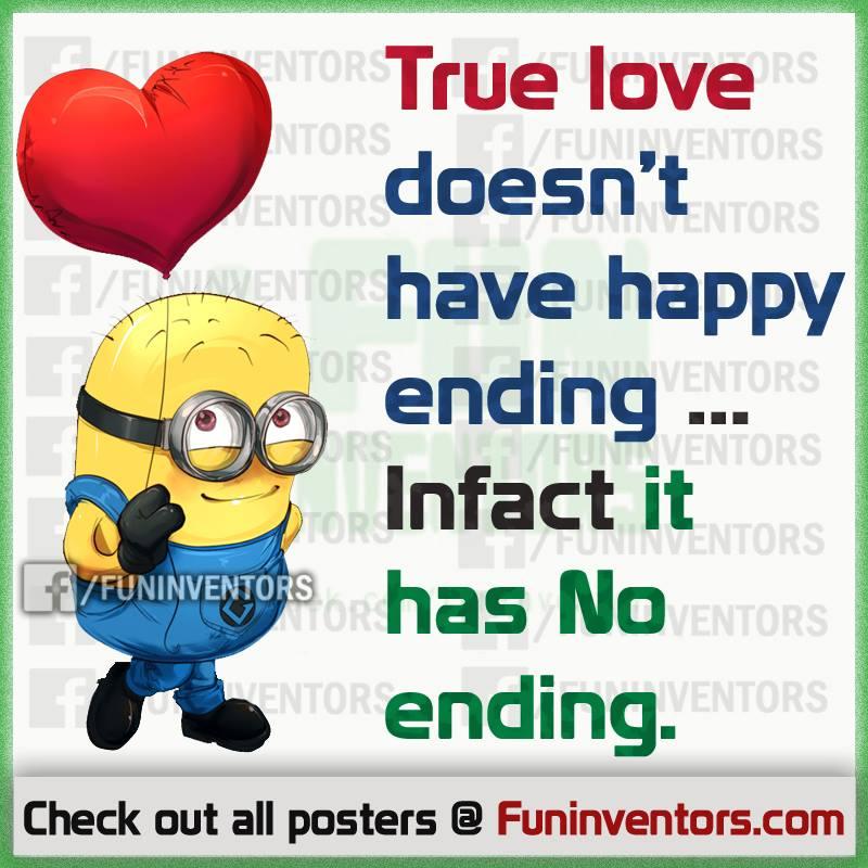 true love quote,minion love quote