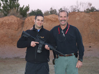 Jan M, a German police cadets, joined the Shenandoah Police Department at the firing range