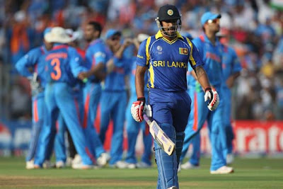 Chamara Kapugedera send back to pavilion by Zaheer