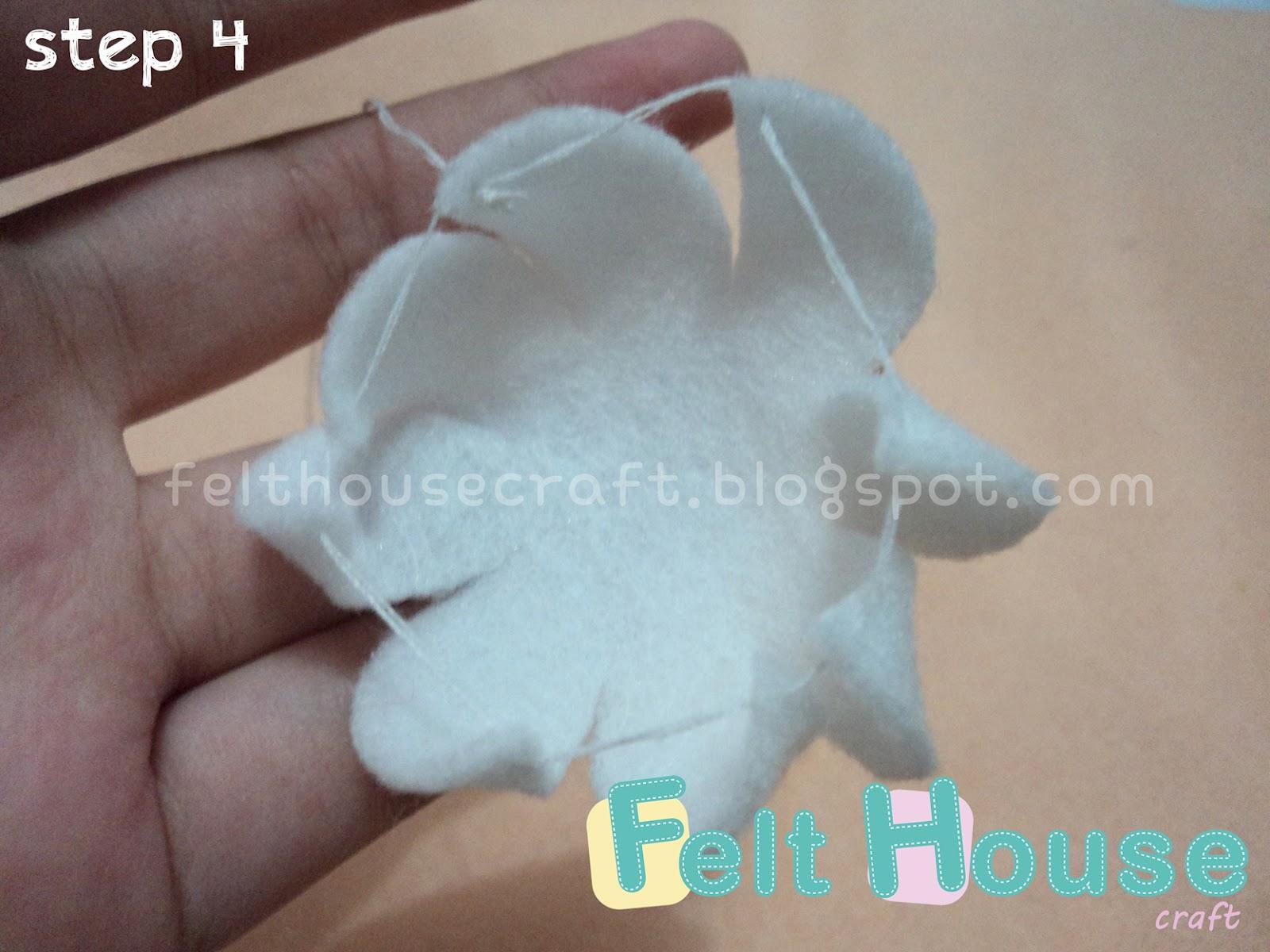 Cara membuat toping cream dari kain flanel