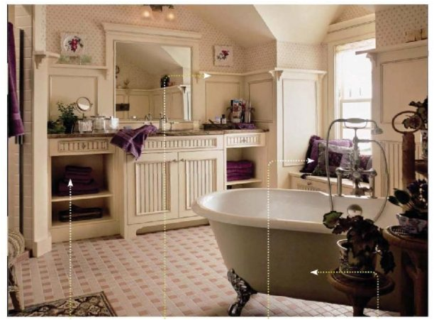 English country bathroom design ideas home design for Country style bathroom ideas