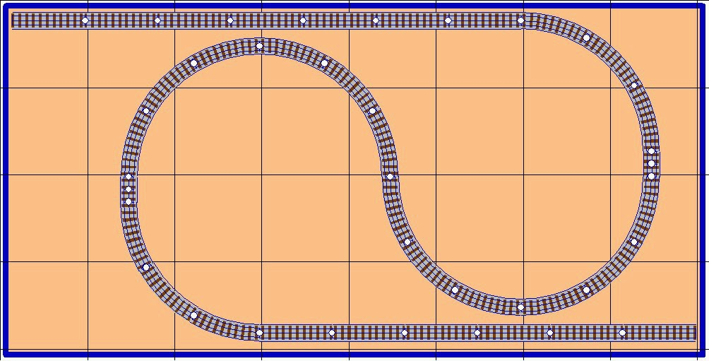 Free model railroad plans, layout design, track plans, point-to-point