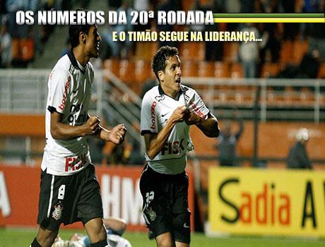 Números da 20ª rodada do Brasileiro, Números completos do Brasileiro, 20ª rodada com alta média de gols, Corinthians na liderança