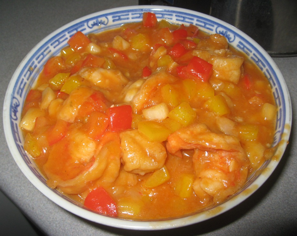 Mum 39 s yummy recipe sweet and sour cod fish with prawns for Fish soup recipe cod