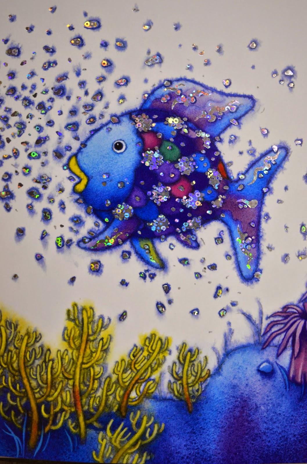 Libri arcobaleno e gli abissi marini m pfister for Disegni pesciolino arcobaleno