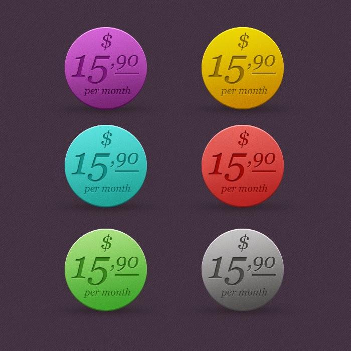 Colorful Price Tag PSD