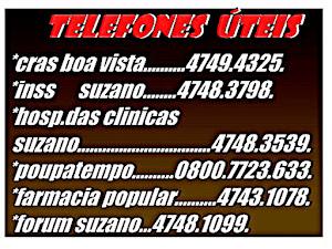 Telefones Úteis Locais.