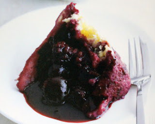 Fruit of the Forest Steamed Pudding: Classic steamed pudding filled with frit of the forest served with a berry sauce