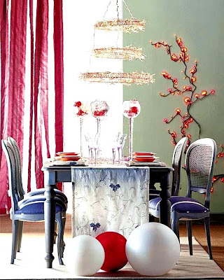 Table+Holiday+Decorating+Design+Lighting