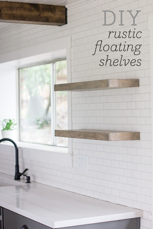 DIY Floating Shelves Kitchen