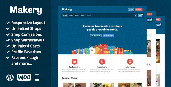Download Free Makery v1.9 Themeforest Marketplace WordPress Theme
