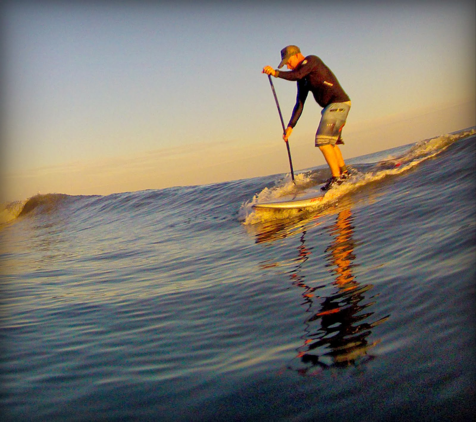 atlantic paddle surfing sunset sup session bc