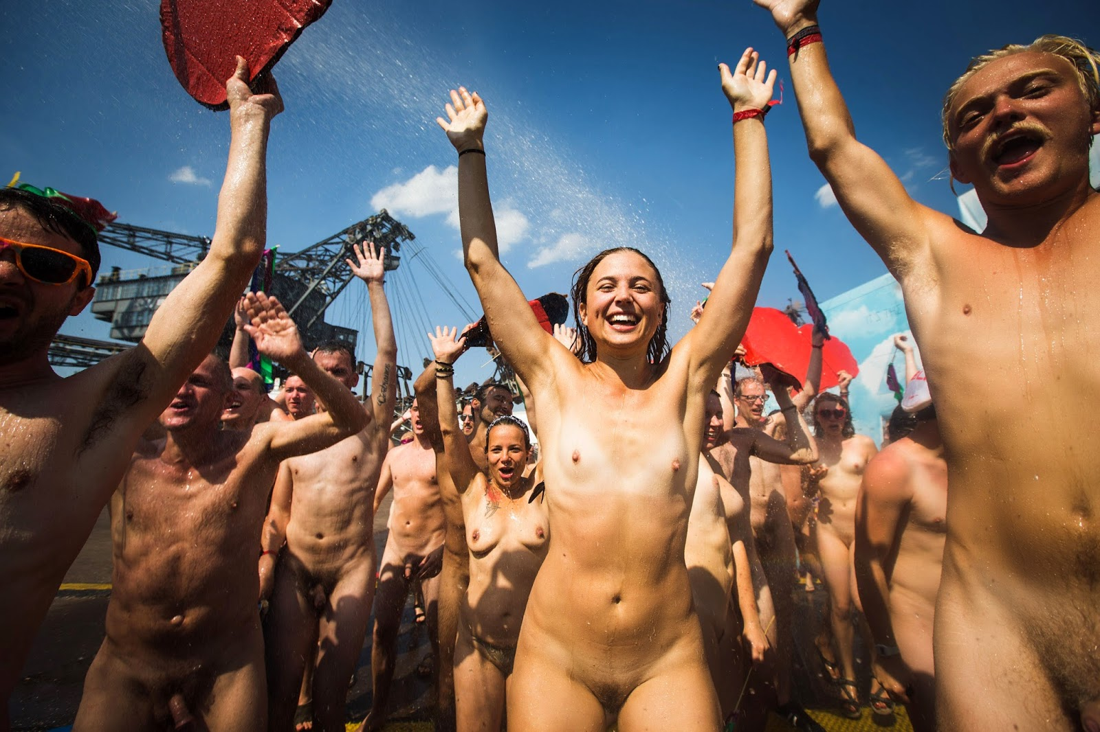 Nude festival porn images