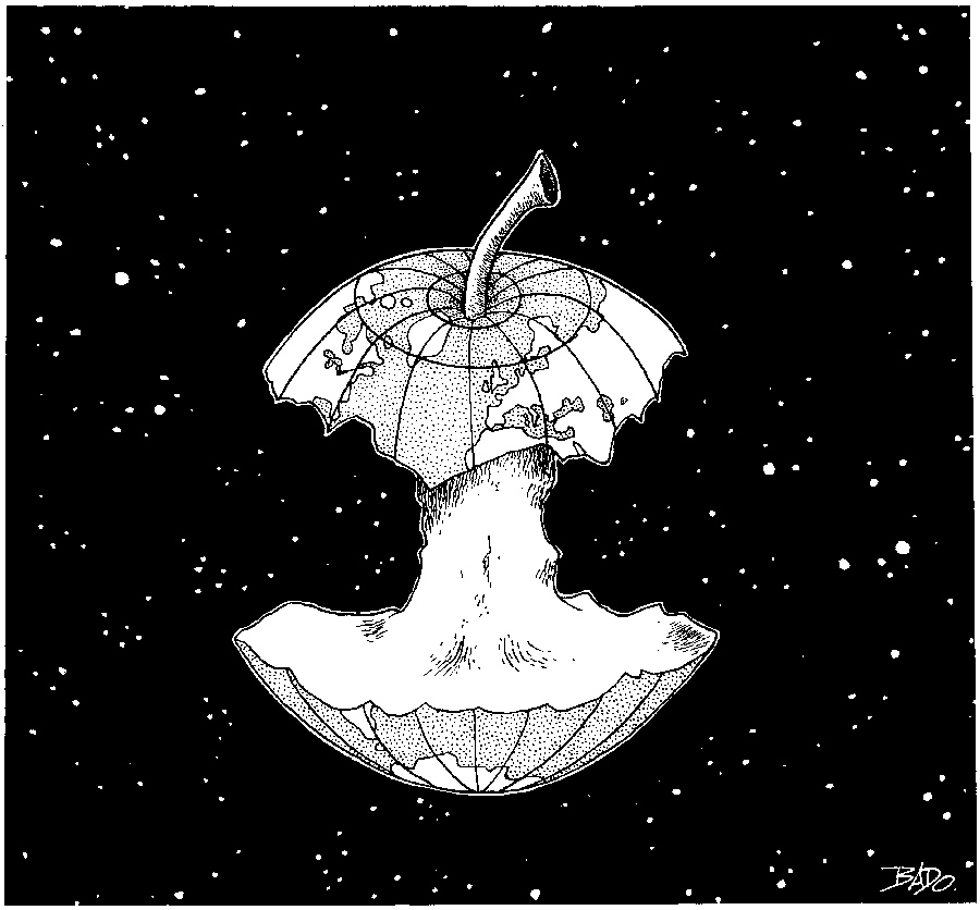 Bado le blog la terre en pomme croqu e - Dessin d une pomme ...