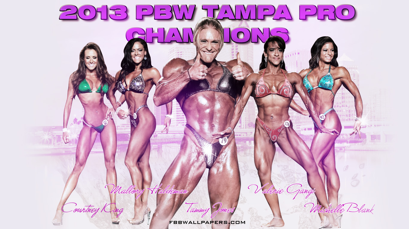 2013 PBW Tampa Pro Women Champions 1366 by 768 Wallpaper