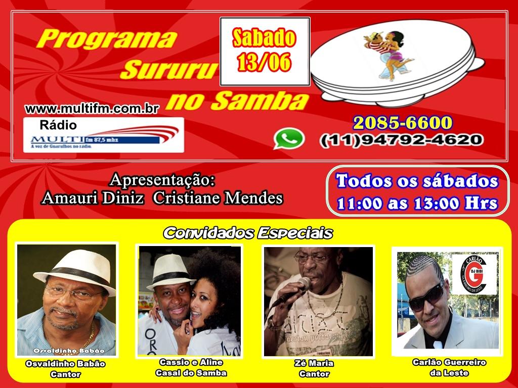 PROGRAMA SURURU NO SAMBA RADIO MULTI FM 87.5