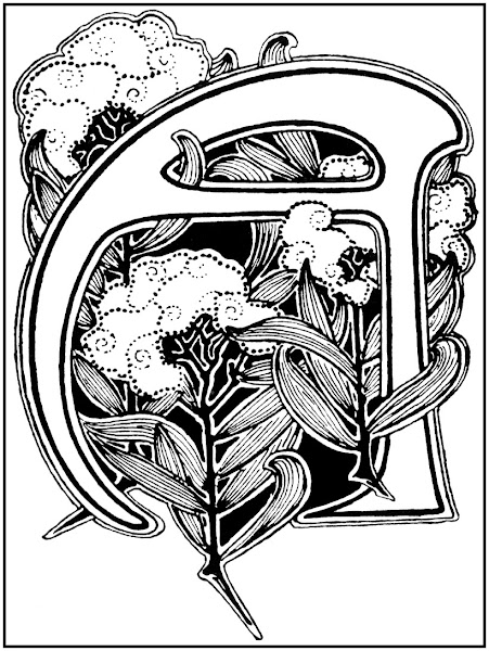Art Nouveau Illuminated Letters