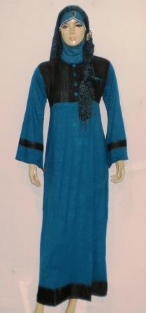 Gamis denim gk0213 grosir baju muslim murah tanah abang Baju couple gamis denim