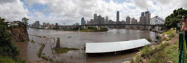 Smith Smith And Flood Smith Wharf in 2011 Floods