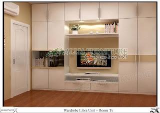 lemari minimalis tv unit Libra