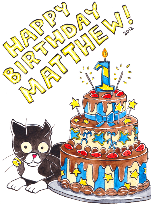 Julia Minamata Illustration The Blog Happy First Birthday To My