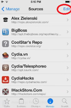 Edit Button Cydia
