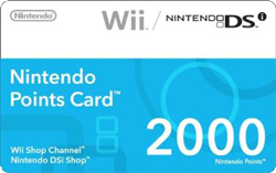 wii points card