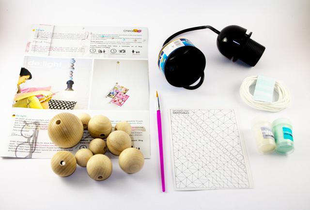 DIY Lampe Materialien