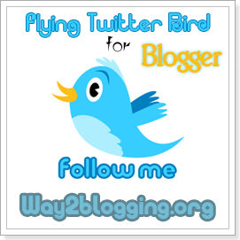 Add Animated Flying Twitter Bird Widget to Blogger Blogs (Updated)